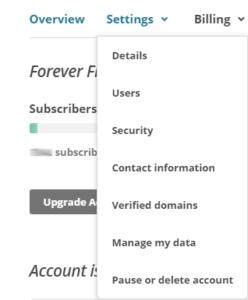 Verified domains hos Mailchimp